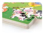 Дървен звуков пъзел с животни от фермата, Viga