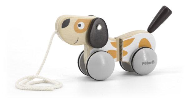 Дървена играчка за дърпане Кученце Polar B, Viga toys