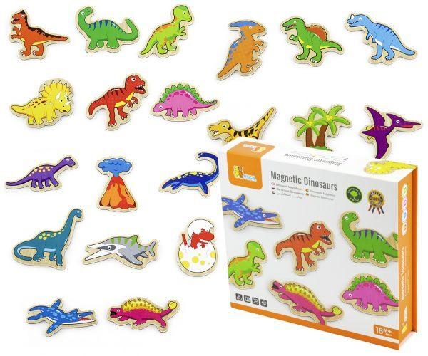 Магнити за хладилник - Динозаври, Viga toys