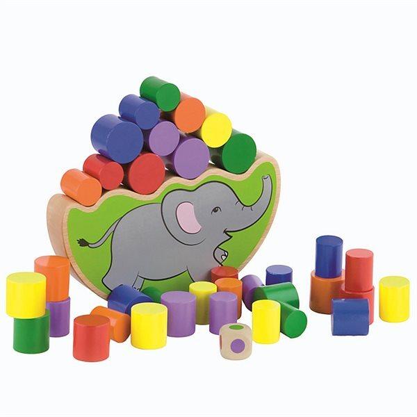 Дървена играчка - слонче за баланс, Viga toys