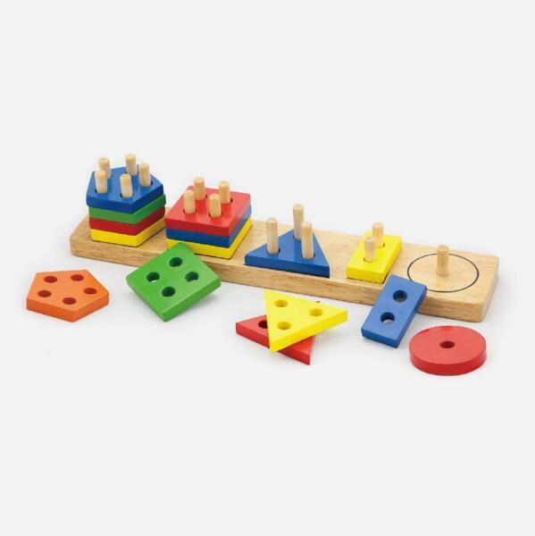 Дървени геометрични фигури за сортиране, Viga toys
