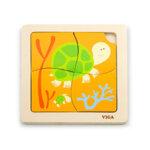 Дървен пъзел костенурка, Viga toys