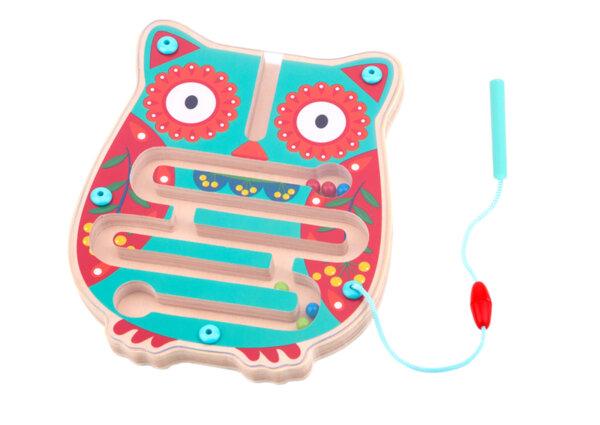 Магнитен лабиринт - сова, Tooky toy