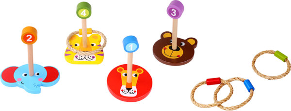 Дървена игра с рингове животните, Tooky toy