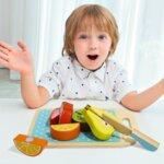Дървени плодове за рязане с дъска за рязане, Tooky toy