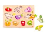 Дървен пъзел с дръжки зеленчуци, Tooky toy