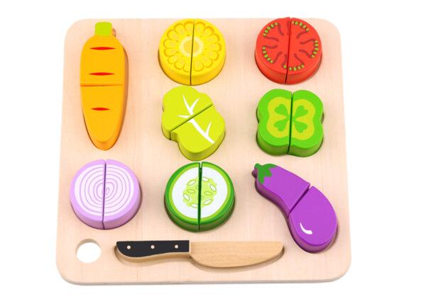 Дървена зеленчуци за рязане с дъска за рязане, Tooky toy