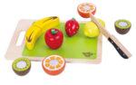 Дървени плодове за рязане, с дъска за рязане, Tooky toy