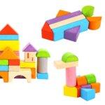 Дървен конструктор от 135 части с букви и цифри, Tooky toy