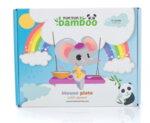 Бамбукова чинийка мишка - син от YumYumBamboo