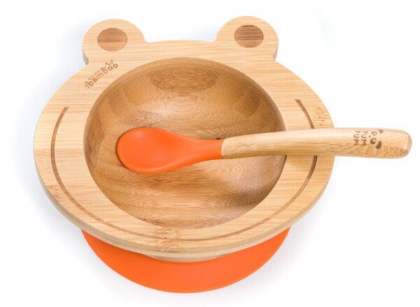 Бамбукова купичка с вакуумно дъно - жаба от Yum Yum Bamboo