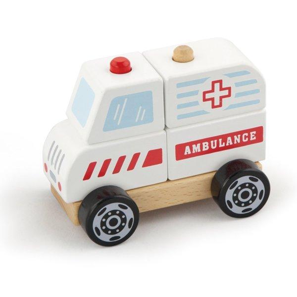 Дървена 3Д фигурка - Линейка, Viga toys