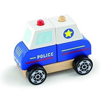 Дървена 3Д фигурка - Полицейска кола, Viga toys