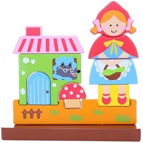 Магнитен 3Д пъзел - Червената шапчица, Viga toys
