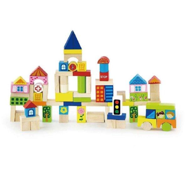 75 блокчета с градски елементи, Viga toys
