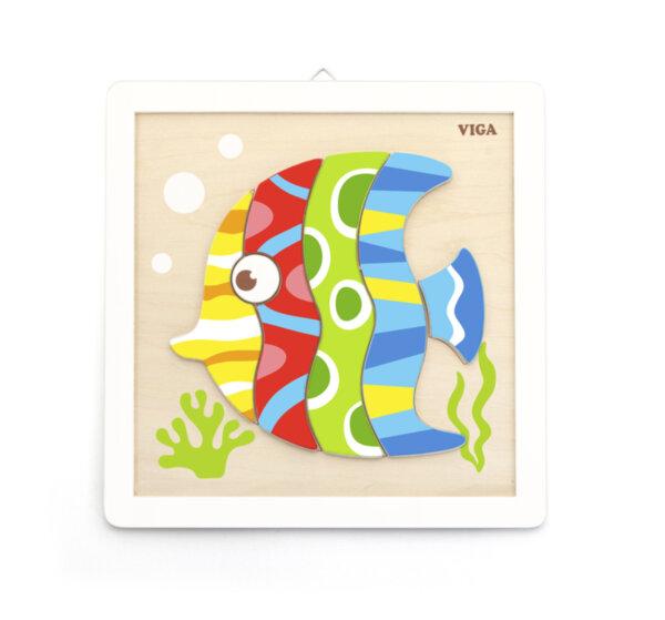 Дървена картина за оцветяване - риба от Viga toys