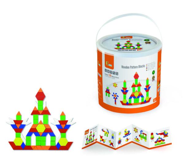 Дървена цветна мозайка от 250 части от Viga toys