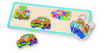 Пъзел с дръжки транспортни средства, Viga toys