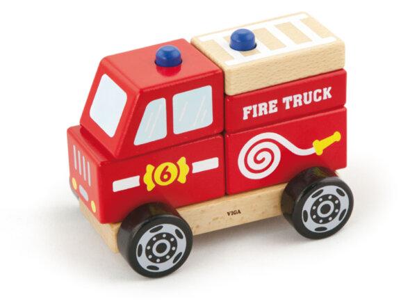 Дървена 3Д фигурка - Пожарна от Viga toys