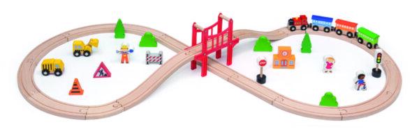 Детски дървен влак с 39 части от Viga toys