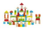 Цветен дървен конструктор от 80 части Viga toys