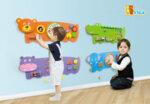 Дървена играчка за стена – Крокодил от Viga toys