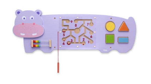 Дървена играчка за стена – Хипопотам от Viga toys
