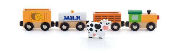 Детски дървен влак – Фермата от Viga toys