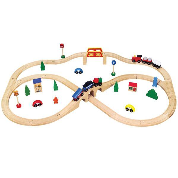 Детски дървен влак с 49 части, Viga toys