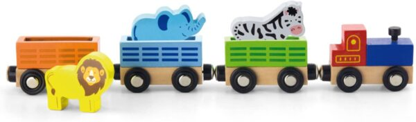 Детски дървен влак – Диви животни, Viga toys