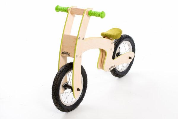 """Дървено колело за баланс модел """"Z''- зелено"""