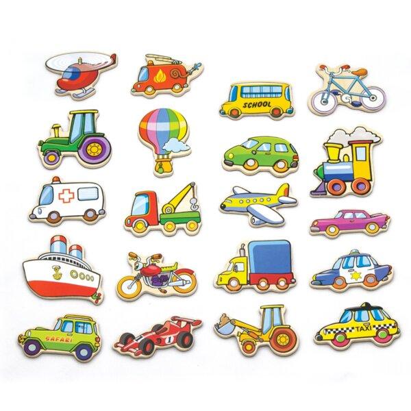 Магнити за хладилник - Транспортни средства, Viga toys