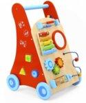 Проходилка - Детски дървен уокър в червен цвят, Tooky Toy