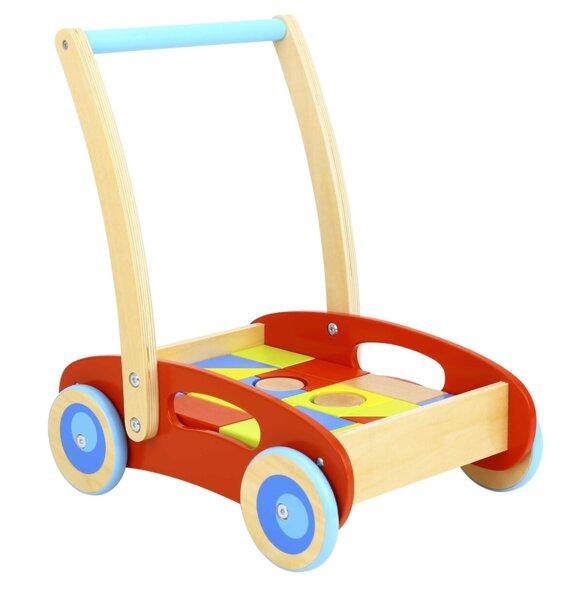 Проходилка с 32 дървени блокчета, Tooky Toy