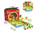 Дървена преносима ферма с животни, Tooky Toy