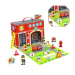 Дървена преносима пожарна станция, Tooky Toy