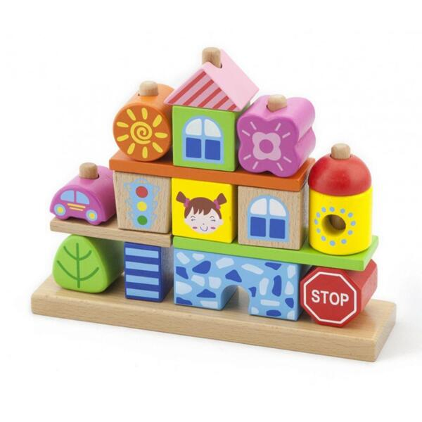"Етажни кубчета ""Град"", Viga toys"