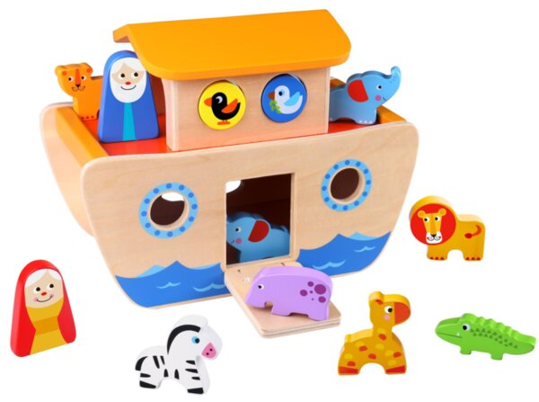 Дървен сортер - Ноевият ковчег, Tooky toy