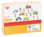 Комплект автомобили с пътни знаци, Tooky toy