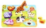 Дървен пъзел за вгнездяване - Фермата, Tooky toy