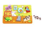 Дървен пъзел за вгнездяване - Домашните животни, Tooky toy