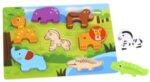 Дървен пъзел за вгнездяване - Животните, Tooky toy