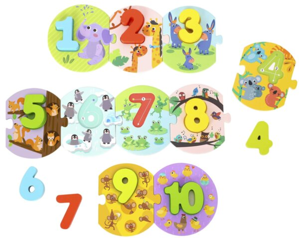 Образователен пъзел - Аз се уча да броя, Tooky toy