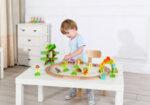 Детски среден дървен влак Динозаври, Tooky Toy