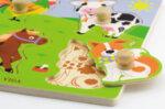 Пъзел с дръжки - животни от фермата, Viga toys