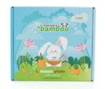 Бамбукова чинийка с вакуумно дъно - Заек от Yum Yum Bamboo