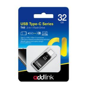 Addlink флашка Flash T65 32GB 2-in-1 Type C / USB3.0  Aluminium black - ad32GBT65G3