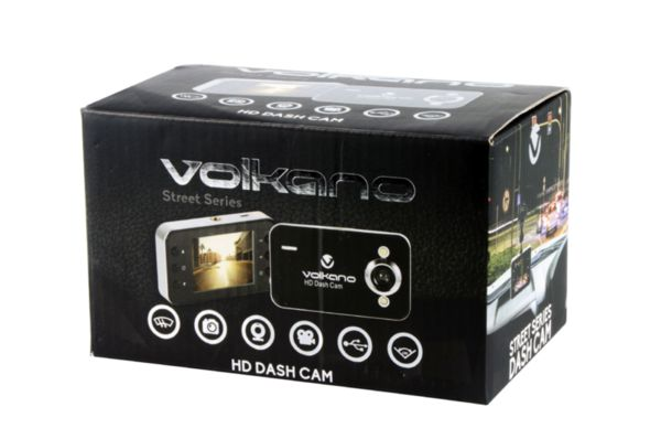 Volkano видеорегистатор Car Dash Camera HD - VS-000-BK