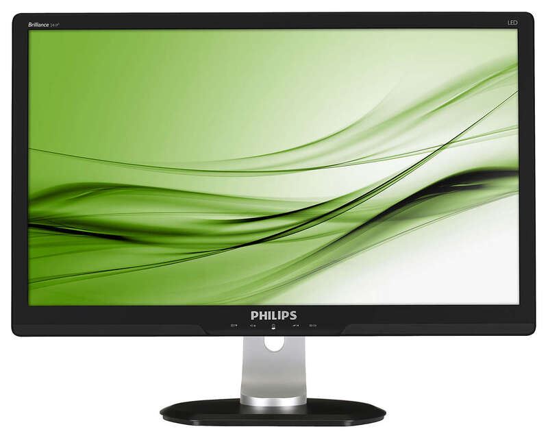 "Монитор PHILIPS 241P/24"" FHD/VGA/DVI/HUB/SPEAK/SH"