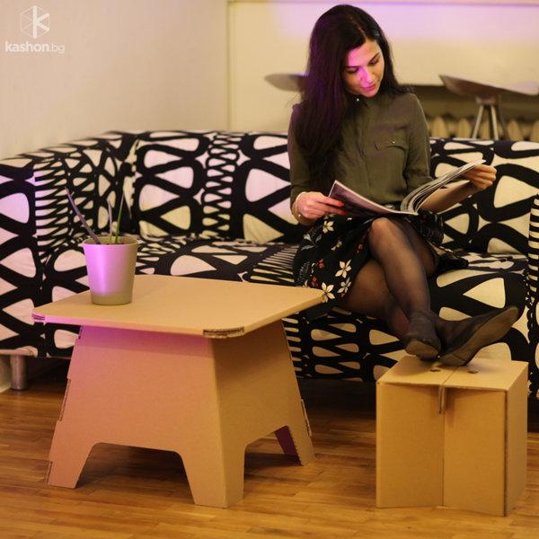 Детско картонено столче